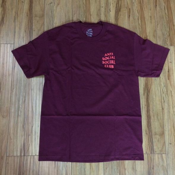 Anti Social Social Club Shirt Maroon Sz S