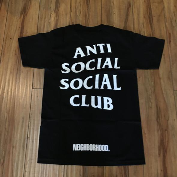 Anti Social Social Club x Neighborhood 911 Tee Black Sz S