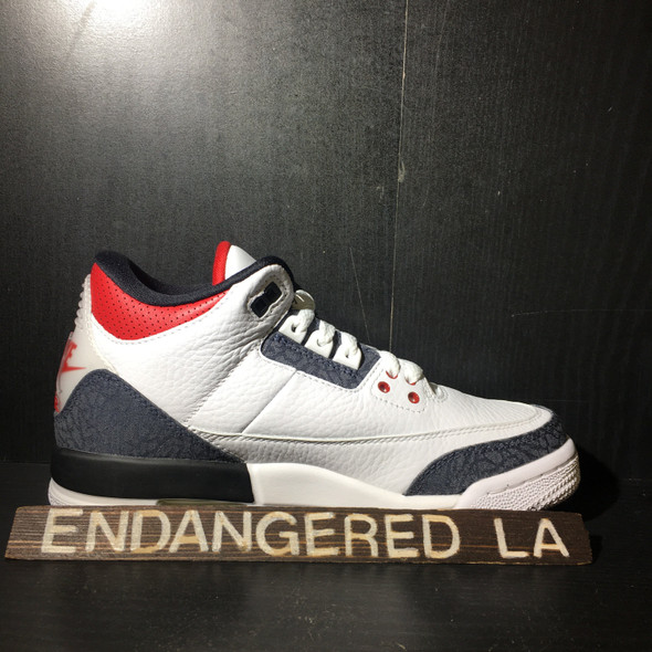 Air Jordan 3 Fire Red Denim Sz 5