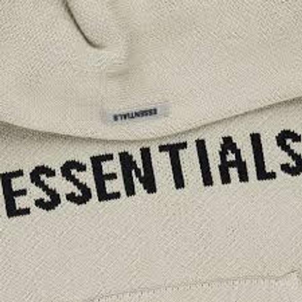 Fear of God Essentials Knit Hoodie Olive Sz XL