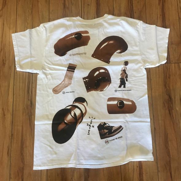 Travis Scott Rules White T-Shirt Sz M