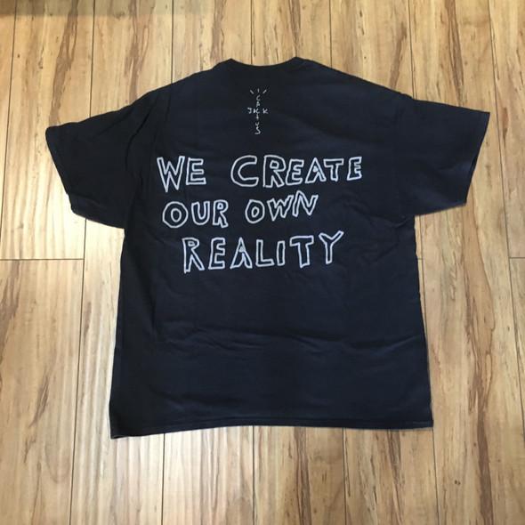 Travis Scott Jack Boys Shatter T-Shirt Black Sz L