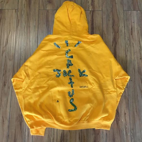 Travis Scott Motherboard Hoodie Yellow Sz XXL