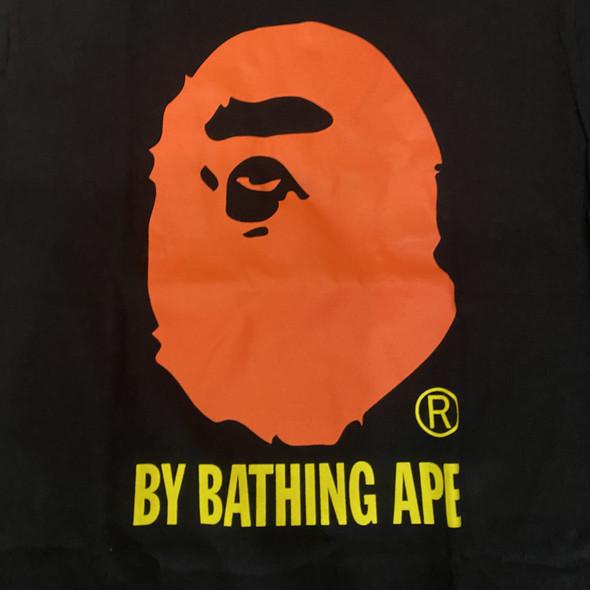 Bape Bathing Ape Black Neon Orange Sz M