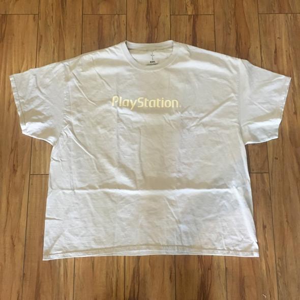 Travis Scott Motherboard Logo T-Shirt Ice Grey Sz XXL