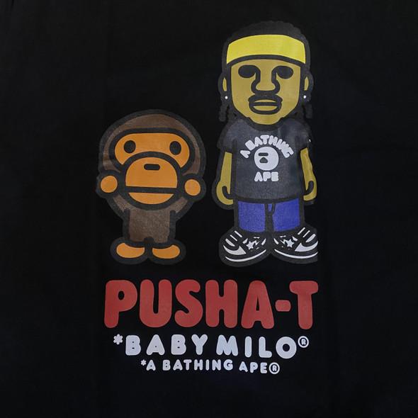 Bape Baby Milo x Pusha-T Black Sz L