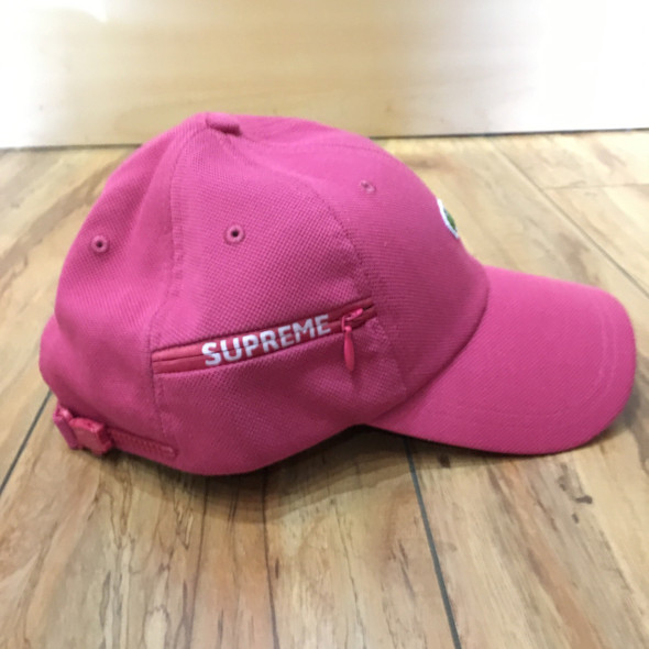 Supreme Hat Lacoste Pique 6-Panel Pink F/W 19'