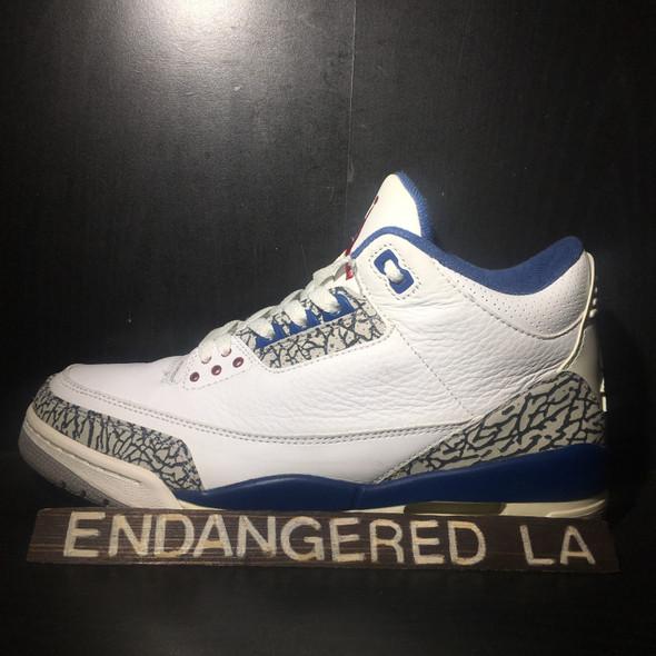 Air Jordan 3 True Blue 01' Sz 10