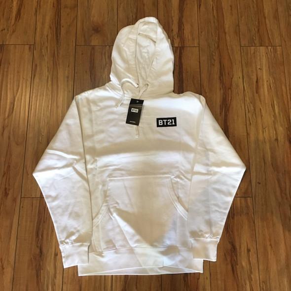 ASSC x BT21 Peekaboo White Hoodie Sz XS (#7183)