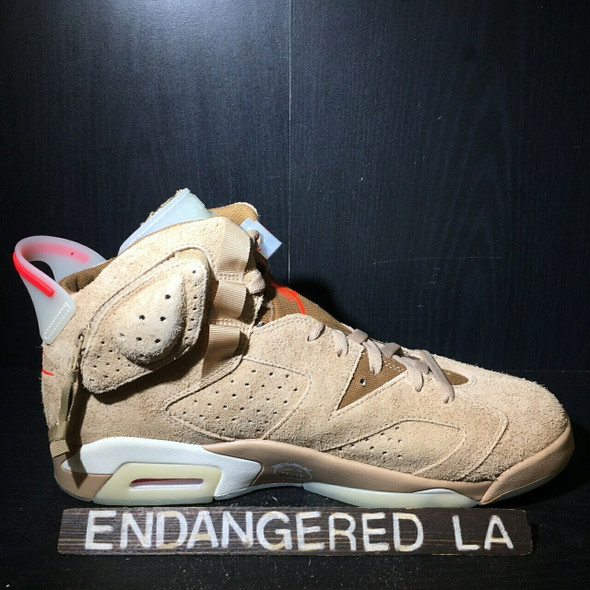 Air Jordan 6 Travis Scott Khaki Sz 7.5 (#18373)