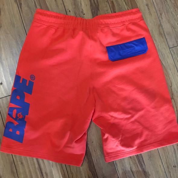 Bape Interlock Sweat Shorts Orange Sz M (#7262)