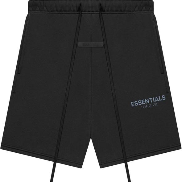 ESSENTIALS Sweat Shorts Black/Stretch Limo Sz M (#7547)