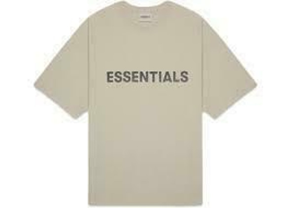 FEAR OF GOD ESSENTIALS Boxy Tee Olive Sz S (#7339)