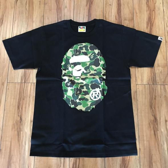 BAPE ABC Big Ape Head Tee Black/Green Sz M (#7341)