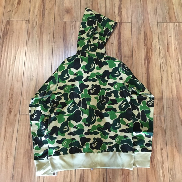 BAPE ABC Bape Sta Tape Full-Zip Hoodie Green Sz M (#7344)
