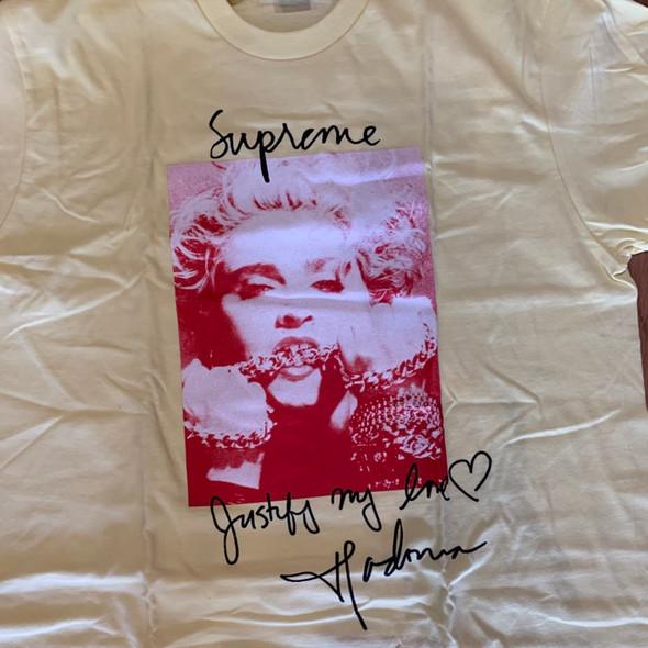 Supreme Madonna Tee Pale Yellow F/W 18' Sz L (#7379)