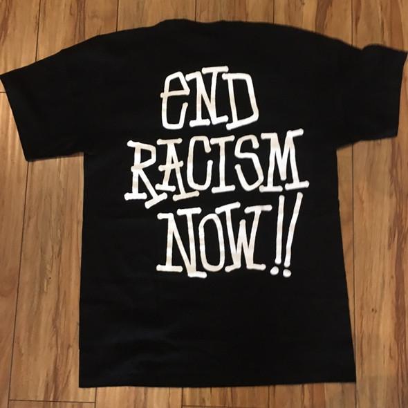 Stussy End Racism Now Tee Black Sz M (#7401)