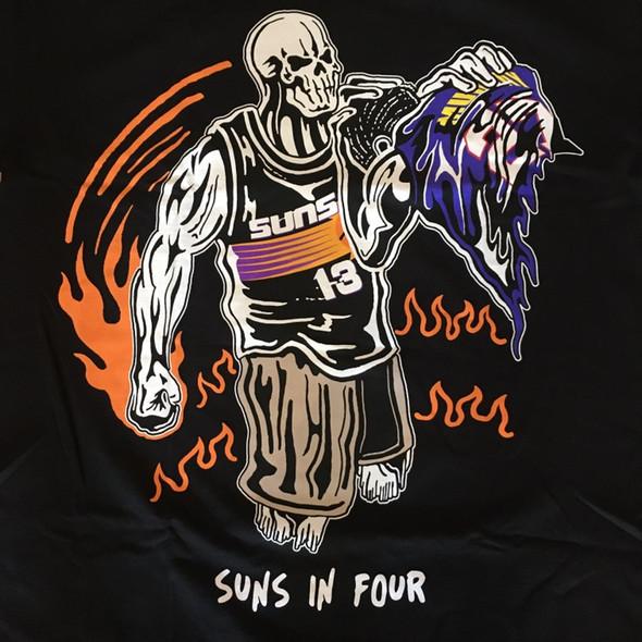 Warren Lotas Suns In 4 Tee Black Sz XL (#7405)