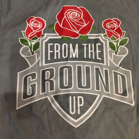 From The Ground Up Tee Grey Sz M (#7416)