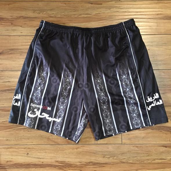 Supreme Arabic Logo Soccer Short Black S/S 21' Sz L (#7439)