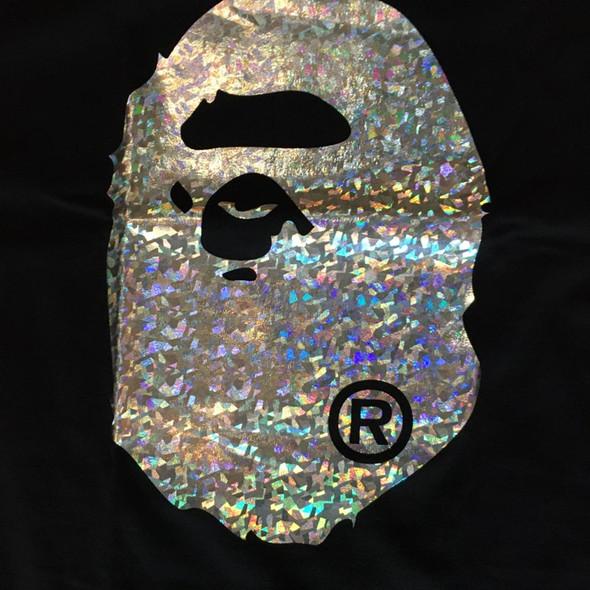 Bape Big Head Foil Black Sz 2XL (#7509)
