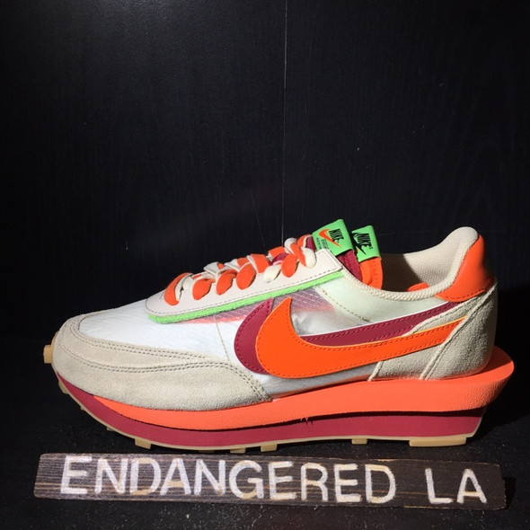Nike LD Waffle Sacai Clot Net Orange Blaze Sz 9.5 (#20010)