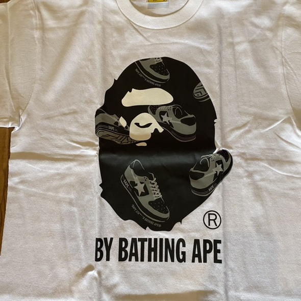 Bape Bapesta Tee White Sz L (#7635)