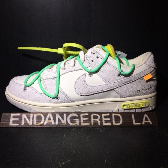 Nike Dunk Low Off White Lot 14 Sz 9 (#20126)