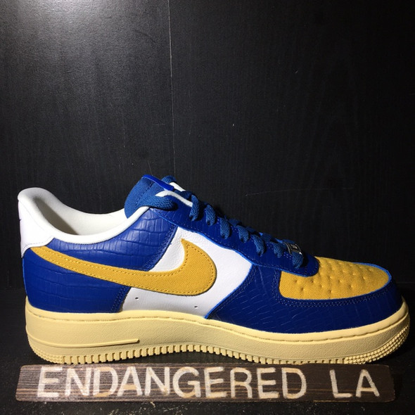 Nike Air Force 1 Low UNDFTD Blue Yellow Croc Sz 9.5 (#20265)