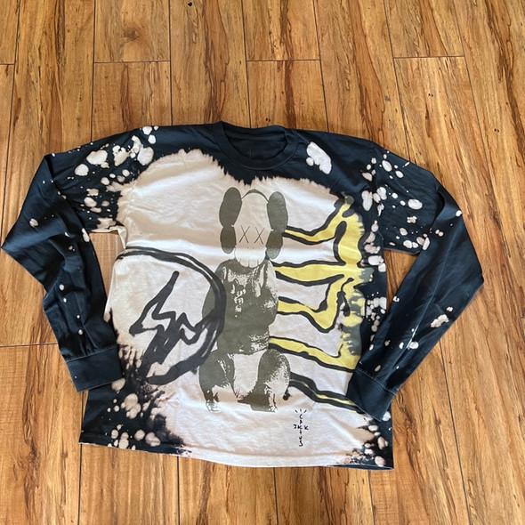 Travis Scott Cactus Jack x Kaws Fragment L/S Tee Tie Dye Sz M (#7721)