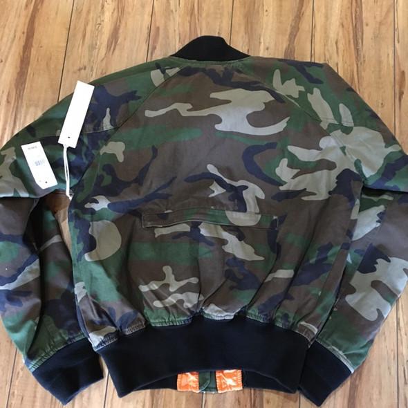 Fear of God Camouflage Bomber Jacket 2015-16 Sz S (#7738)