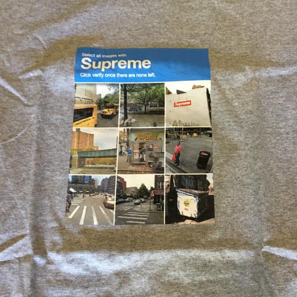 Supreme Verify Tee Grey F/W 20' Sz S (#7741)
