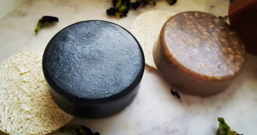 Organic Coconut Shell Charcoal and Tea Tree Facial Soap