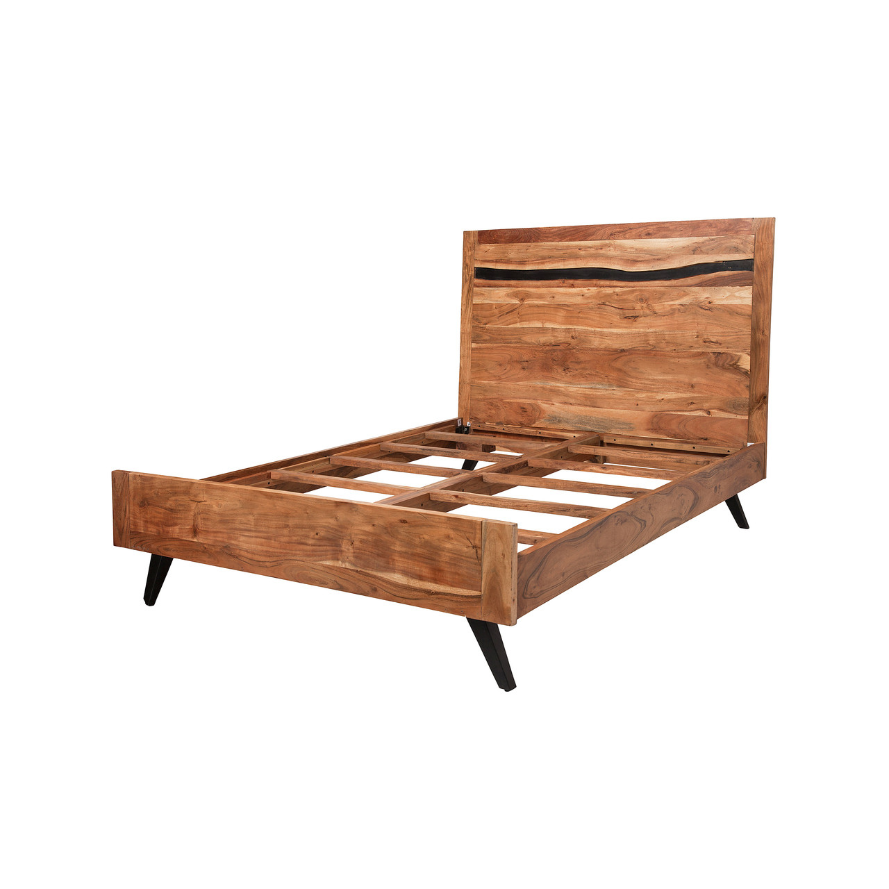 8cebcf10d05e Prana Reclaimed Mango Wood Queen Bed Frame - Design Tree Home