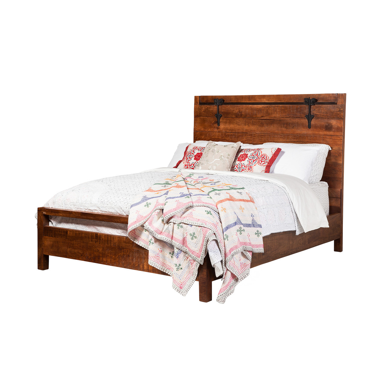 f0abbf401b16 Owen Reclaimed Mango Wood Queen Bed Frame - Design Tree Home