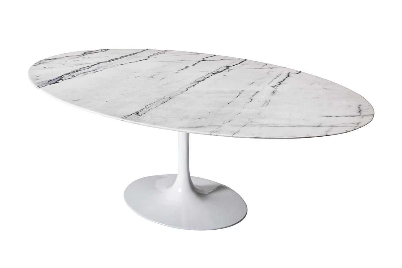 Saarinen Style Tulip Marble Dining Table 60 Oval Design Tree Home