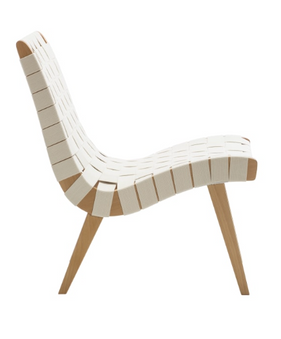 Risom Inspired Lounge Chair - in White