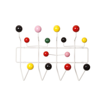 Hang It All Multi-Color Ball Coat Rack - White