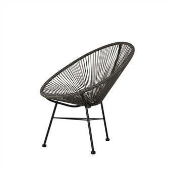 Acapulco Indoor/Outdoor Lounge Chair in Grey
