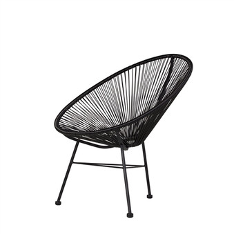Acapulco Lounge Chair in Black