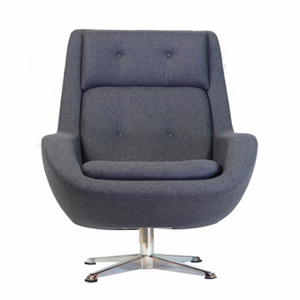 Koppla Swivel Chair in Dark Grey