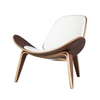 Athena 07 Lounge Chair White Leather