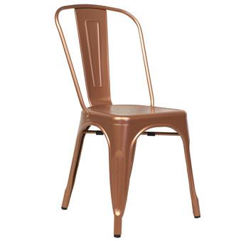 Bastille Side Chair in Copper Galvanized Steel