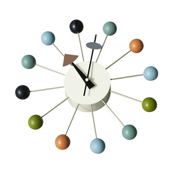 Mid Century Modern Ball Clock, Multicolor