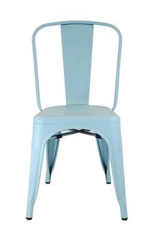 Bastille Side Chair in Matt Blue Galvanized Steel