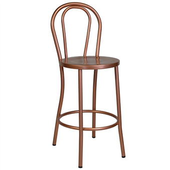 French Cafe Bar Stool in Copper