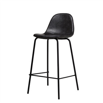 Smart Counter Stool in Distressed Black Leather