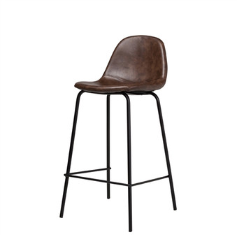 Smart Counter Stool in Distressed Brown Leather