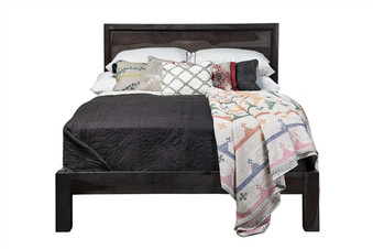 Vega Reclaimed Mango Wood Queen Bed Frame
