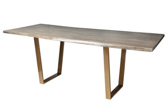 Live Edge Slab Pub Table 92 Grey Wash Stain